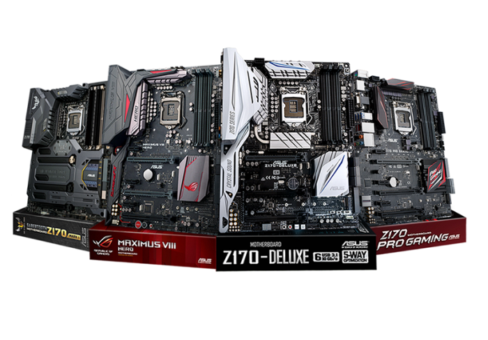 ASUS Z170 motherboards