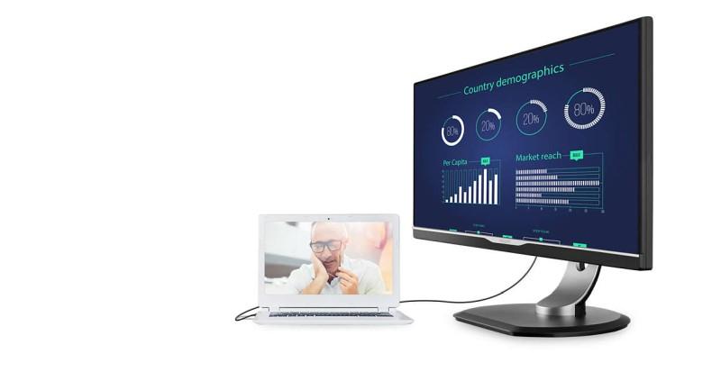 Monitory z USB-C umożliwiają dokowanie laptopa