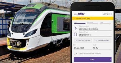 Bilety Kolei Mazowieckich w aplikacji mPay
